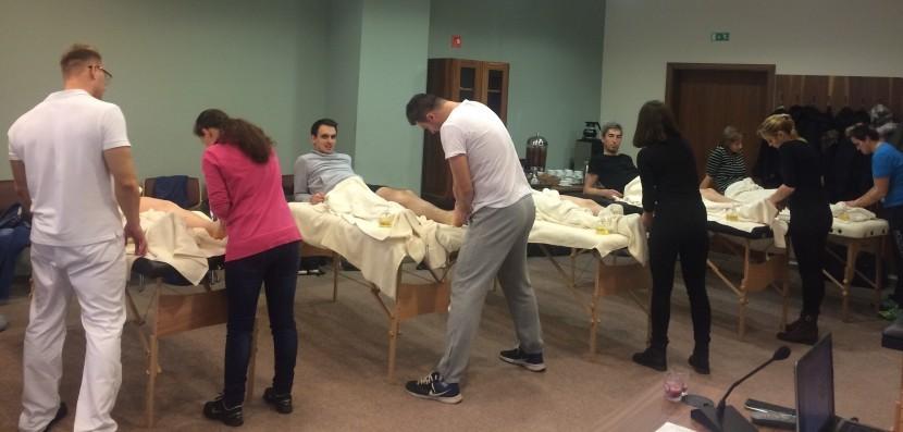 tečaj klasične masaže, praktični del