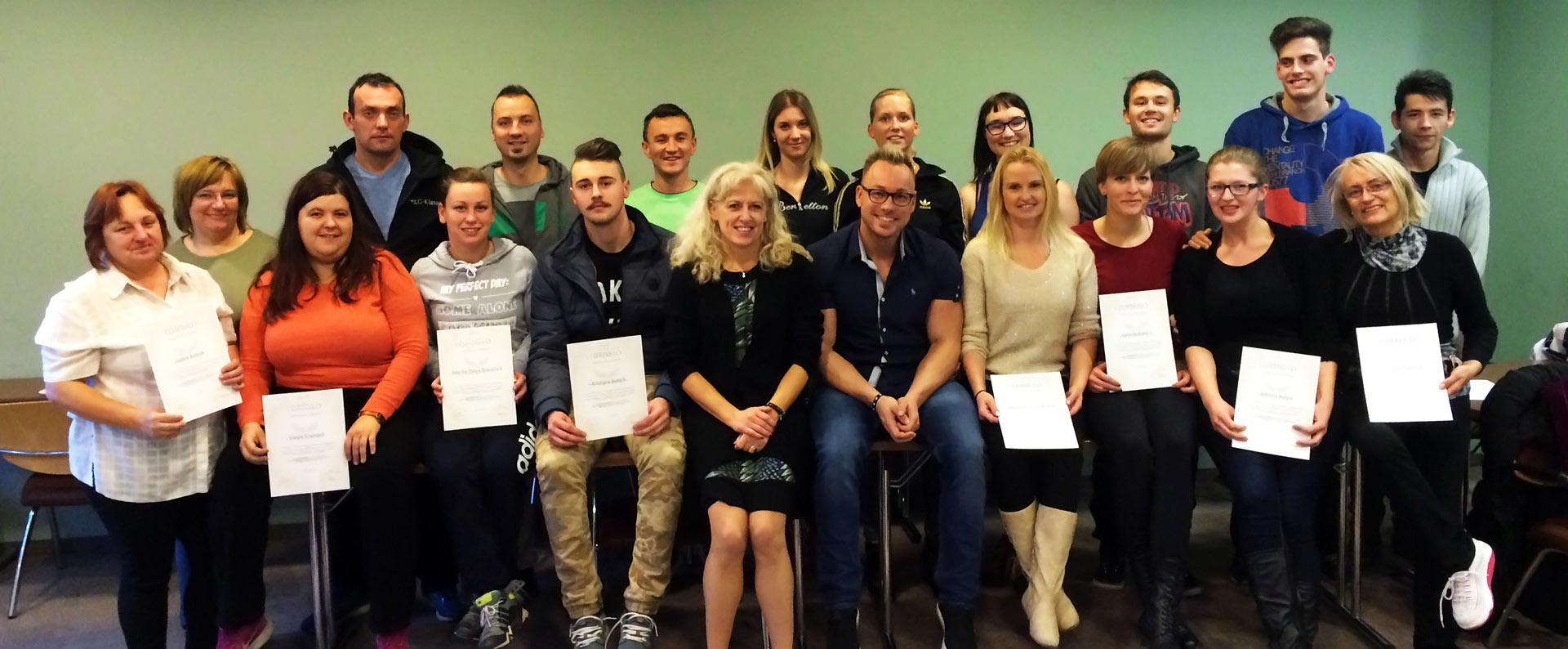 Tecaj masaze Maribor podelitev diplom